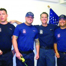 Pictured left to right are Chris Wiley, Brian Moreni, Craig Daniel and Ray Franco.