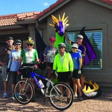 Celebrating Halloween in Sun Lakes with a spooky ride!