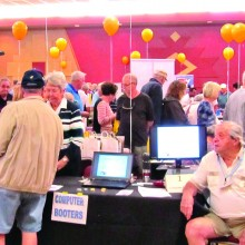 Volunteers from the Computer Booters manned the booth at the Open Houses.