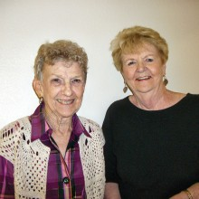 Eleanor Woodman (left) and Cita Meloch