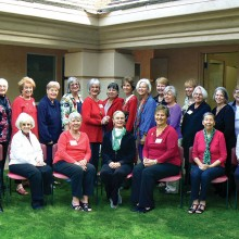 Members of the Oakwood Artists' League (OAL) who met for their annual holiday meeting in early December. Group photo by R. Weary.