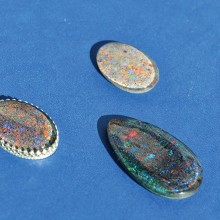 Various shades of opals.
