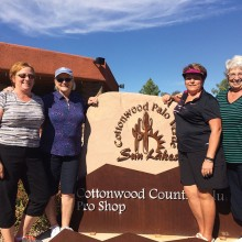 Cottonwood's Lady Niners officers for 2015-16 are from left Treasurer Lynn Tanner, President Bette Lu Buchanan; Secretary Cathy Kinnick; and Vice President Dixie McQuaid.