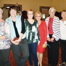 Attending the Lady Putter's Christmas lunch are left to right Pat Weitzel, Paula Zoccoli, Chris Bethany, Marjean Scheele, Sue Core and Hilde Powell.