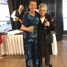 Mother and daughter, Pearl and Debbie Martin, arriving at the Awards Banquet