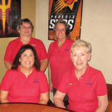 Pictured (seated left to right) Denise Fleshner and Susan Meer; (standing left to right) Linda Liberti and Marcia Gaudioso