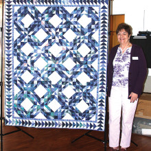 First Light on the North Atlantic by Dennie Sullivan, Agave's 2016 opportunity Show quilt.