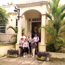 The Tambers, Kovars and Rajamaki couples in Cuba.