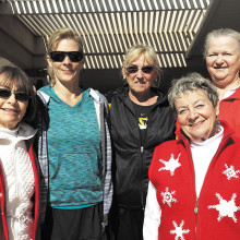Pictured (left to right) are Team Captains Sue Elsner, Kim Schmuck, Mary Ann Rice (League Coordinator), Kay Strauman and Georgia Day. Not pictured, Sue Thomas.