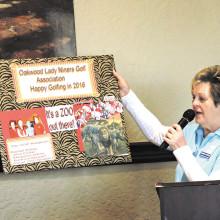 OLNGA President Barbara Stewart welcomes members to the New Year