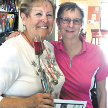 Our 2015 President, Karen Beltz, welcomes Betty Schechter to her 2016 Presidency.