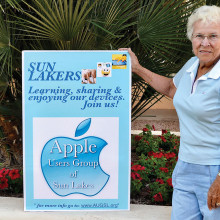 Beverly Schalin, AUGSL Board member, invites you to join the Apple Users Group of Sun Lakes to learn how to use your new iPhones and iPads.