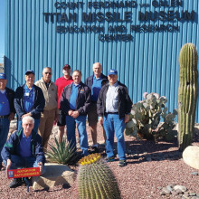 Pictured left to right standing: Jim Theobald, Steve Perkins, Paul Beeks, Rob West, Richard Simmons, Gary West and Steve Hohl; kneeling J. R. Scheidereiter