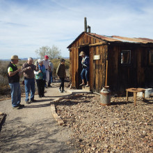 RV Club members visited a reconstructed old west town outside of Quartzsite.