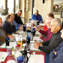 Men's Club January mid-month outing; our members meet at Brunchies for lunch.