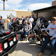 The Motorcycle Riders of Sun Lakes rode to Eloy to watch the skydivers.