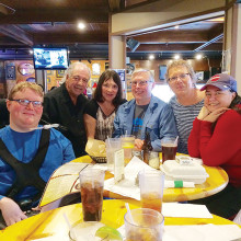 Trivia team No Clue members Cody Newcomb, Ralph Casale, Sady Casale, Chris Newcomb, Annelle Newcomb and Brooke Jones