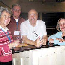 Guest speaker Bob Gostischa and club members
