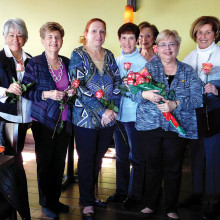 Newly installed 2016 officers of Shalom Chapter of Hadassah