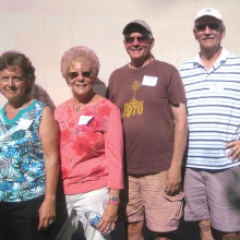 Sisk Park Team 4 walked off with top honors in the annual competition with the Sun Lakes Country Club Oasis Team at Sisk Park February 12. Team members (left to right) Maria Racano, Dorothy Bobek-Vacin, Tim Donovan and Doc Heckler (photo by Gary Vacin).