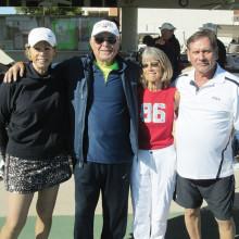 Winning team: Betty Dunn, Tony Lasso, Mary Jane Robinson and John Cousins