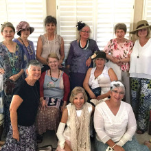 The Ladies of Copper Drive gathered for an afternoon tea.