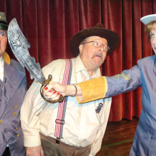 Southern Hospitality, featuring Michael O'Rourke, Ted Peck and Merrie Crawford, was one of Hummel's previous plays. The upcoming show, Dearly Departed, promises another treat for Sun Lakes audiences.
