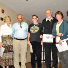 Pictured left to right are Unit President John Euler, Cynthia Smith, Sadu Marrott, Michelle Steiner, Paul Morris, Deborah Berry and Unit Vice President Barbara Bennett