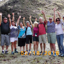 Savvy Travelers and friends on health and wellness cruise in Belize