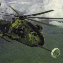 Lt. Col. Tom Waldron (USAF ret.) flew a giant Hh53 Jolly Green Giant helicopter like the one pictured above during the Son Tay POW rescue mission in Vietnam in 1970. Waldron will recount his experience on this mission during a presentation at the Sun Lakes Aero Club gathering April 18.