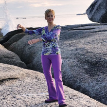 Kim Kubsch doing Tai Chi in Tasmania Australia