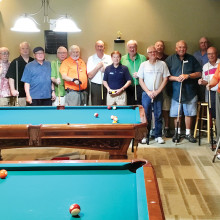 IronOaks and Mission Royale Billiards travel teams. (Picture submitted by Willie Foster).