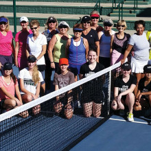 Participants in the Generations Tennis Social