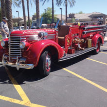 A '38 fire engine. Photos by Royal Henry.