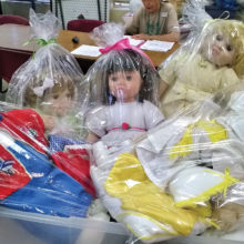 Dolls ready to be delivered.