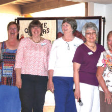 Pictured (left to right) Melodie Fogelsanger, Anne Munoz, Shar Schmutz, Pat Boles, Pat Meger and Nancy Miller.