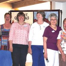 Pictured (left to right) Melodie Fogelsanger, Anne Munoz, Shar Schmutz, Pat Boles, Pat Meger and Nancy Miller.