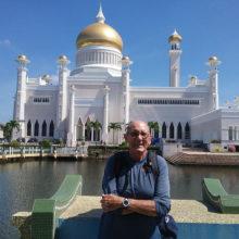 Savvy traveler Len Herring in Brunei