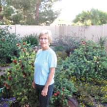 Nancy Mumpton in her xeriscape garden