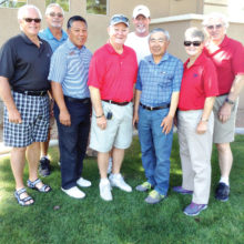 Picture (left to right) Doug Braun, Dan Boggard, Eddy Renio, Craig Annis, TJ Jones, Aki Yasuda, Barbara and Jim Hooyman; missing are Brian Keene, Rich Castro, Ross Dupuis and Paul Dinardo.