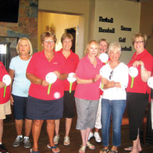 Chip-in awards: Linda Liberti, Patty Partridge, Connie Luther, Sue Werner, Rony Lacey, Barb Johnston, Barb Pezzute, Susan Uhrich and Norma Marsh