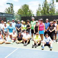 Participants in the Summer of Love Pickleball social.