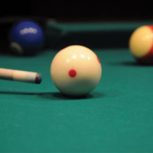 If you are interested in learning to play pool, come to the Billiards Room on Mondays and Thursdays in June and July.
