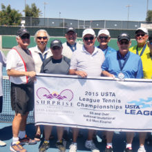 Pictured (left to right) John Reed, Ken Stanley, Tom Tschetter, Phil Kirschenbaum, Norbert Guimond, Hal Davis, Lloyd Yanke, Tom Ritter, Evan Hansen, Tom Lorgan