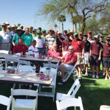 Niners and Hamilton Golf Team had a great time on March 17 (photo by Steve Kanner, Hamilton High coach).