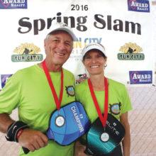 David Zapatka and Dianne Zimmerman, 4.5, 50 Plus silver medal winners