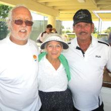 Denis White, Ann Armbruster and John Cousins