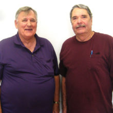 Lucky Shot Pool Club members Steve Colby (left) and Mike Currier (photo by Gary Vacin).