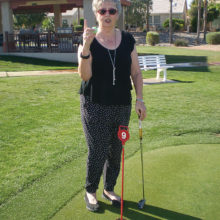 Jeannette Boychuk is one of just a few Lady Putters who have putted a Hole-in-One on the No. nine hole. As the Putters' group would agree, this is quite an accomplishment. Jeannette is a member of the Wednesday group playing at Sisk Park.