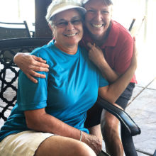 Linda Ryland (golfer) and Anna O'Dell (bartender) - thanks Anna for always greeting the golfers with a smile and cold beverage!